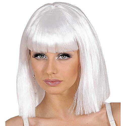 Widmann- showgirl bianca in sacchetto parrucca donna party e carnevale 988, multicolore, 8003558638109
