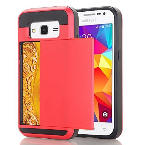 Galaxy A510 Hülle,EVERGREENBUYING [Slider Series] Abnehmbare Hybrid Schein SM-A5100 Tasche Ultra-dünne Schutzhülle TPU Fall Geschützt Cover für Samsung GALAXY A5 (2016) Weiß Rot