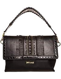 Cavalli Just donna Borsa a mano in vera pelle colore nero prodotto nuovo  con etichetta. b6265cdf02b