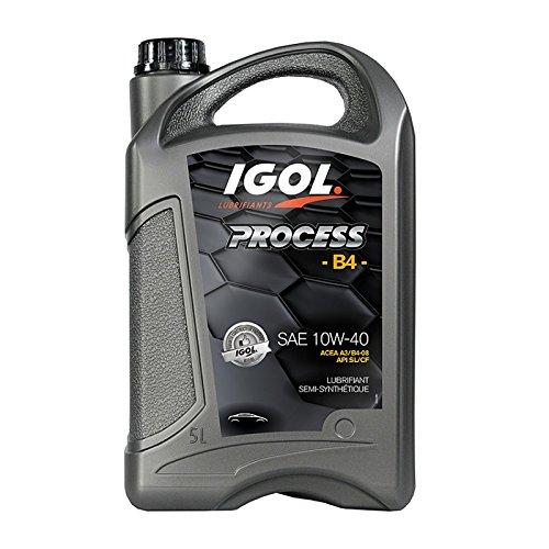 Huile Moteur Automobile Semi-Synthétique 10W40 Process B4 Igol 2 litres