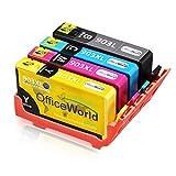 OfficeWorld 903 XL Pack Remanufacturéd Compatible HP 903XL Cartouches d'encre Compatible avec HP Officejet 6950, HP Officejet Pro 6960 6970 (1 Noir,1 Cyan,1 Magenta,1 Jaune)