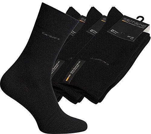 """6 Paar Camano Socken """"Ca-Soft"""" ohne Gummidruck / Art. 3642, schwarz, Gr. 43-46"""