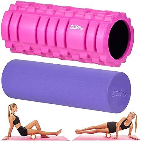 Just be...® Muscle Point 2 in1 - rullo in schiuma per massaggi - Rosa / Viola