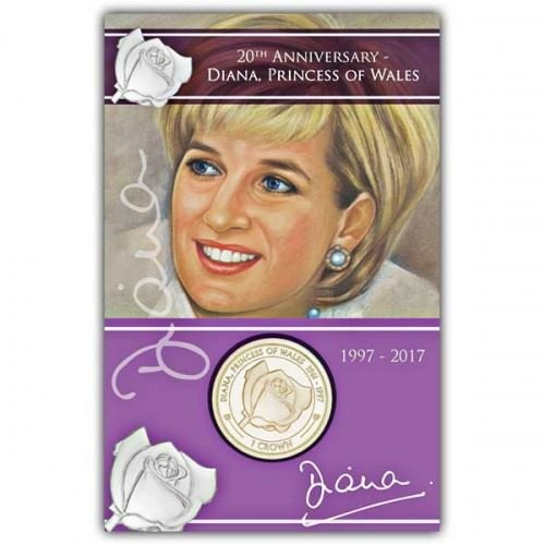 Ascension Inseln 2017 Tod von Prinzessin Diana Rose virenium Medaille in Pack (Mint Diana Prinzessin)