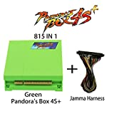 Wisamic Pandora Box 4S+ 815 in 1 Game Joystick Spielkonsole mit Jamma Harness Grün
