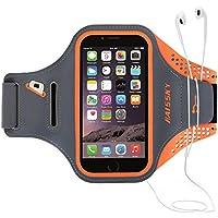 Guzack Brassard Sport, Brassard pour le Jogging / Gym / Course avec sangle réglable compatible avec iPhone, Samsung Galaxy / Note, HTC, LG, Sony et les autres smartphones inférieur (5.5 Pouces, Orange)