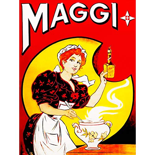 Wee Blue Coo Vintage Advert Food Sauce Kitchen Cooking Maggi New Fine Art Print Poster Picture 30x40 cms CC4717