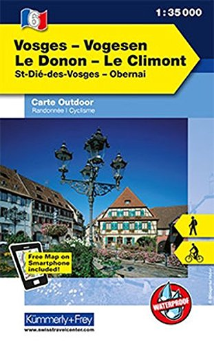 K&F Elsass / Vogesen Outdoorkarte 06 Vogesen - Le Donon - Le Climont 1 : 35 000 (Kümmerly+Frey Outdoorkarten Frankreich, Band 730)
