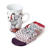 tatty teddy christmas mug sock set