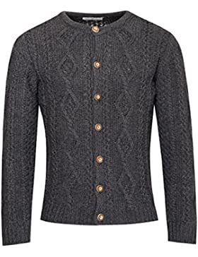 Almsach Strickjacke Gregor in Anthrazit