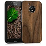 kwmobile Motorola Moto G5 Hülle - Handy Schutzhülle aus Holz - Cover Case Handyhülle für Motorola Moto G5
