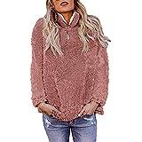 TianWlio Damen Hoodie Frauen Warme Flauschige Winter Feste Beiläufige Reißverschluss Sweatshirt Outwear