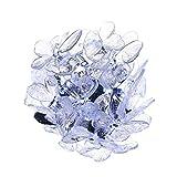 solar kette mit 24 Schmetterling weiß für Innen,außen,party,weihnachten,Hochzeit,Garten,Terrrassen,Balkonen