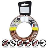 EDM Carrete cablecillo Flexible 4 mm. Marron 50 MTS. Libre-halogeno