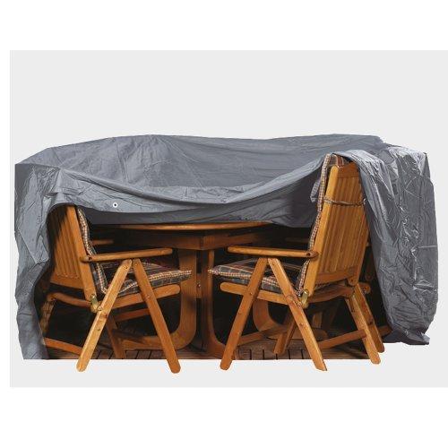 Siena Garden 150931 Copertura per set tavolo e sedie, in PVC Oxford 600, 230x135 cm, colore: Antracite