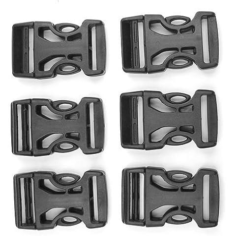 SWT 6 Pcs 25mm Plastic Belt Strap Webbing Side Release Buckles by Eplayer