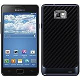 kwmobile Coque carbon pour batterie aspect carbone pour Samsung Galaxy S2 S2 PLUS en noir - Assortie au design de votre Samsung Galaxy S2 S2 PLUS