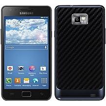 kwmobile Coperchio batteria in stile carbonio per il Samsung Galaxy S2 S2 PLUS nei colori nero - Completa il design del Suo Samsung Galaxy S2 S2 PLUS