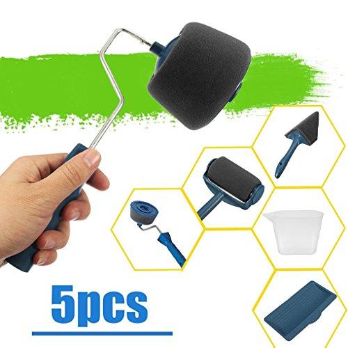 Hstv rullo pittura anti gocciolamento 5 pz/set di kit per pittura murale blu set rulli da pittura paint