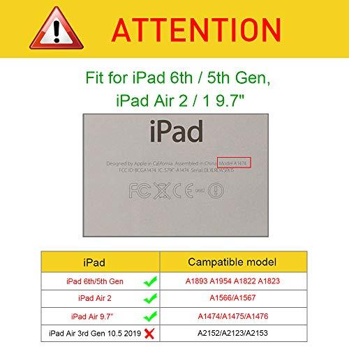 Fintie iPad 9.7 Zoll 2017 / iPad Air Hülle – 360 Grad Rotierend Stand Smart Cover Case Schutzhülle mit Auto Schlaf / Wach Funktion für Apple iPad 2017 Neue Modell / iPad Air 2013 Modell, Schwarz - 3