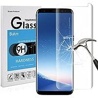 Galaxy S8 Plus Protection d'écran, Bukm Verre Trempé Galaxy S8 Plus [9H Dureté] [anti-traces] [Haute Définition] Film de Protection d' Écran en Verre Trempé pour Samsung Galaxy S8 Plus
