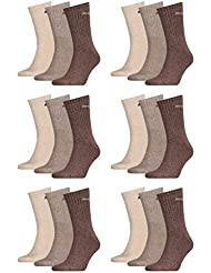 PUMA Unisex Crew Socks Socken Sportsocken MIT FROTTEESOHLE 18er Pack (Choclate/Walnut/Safari, 43-46)