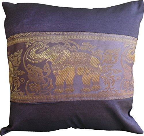 Funda de almohada y funda de almohada decorativa de seda tailandesa para...