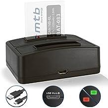 Caricabatteria doppio (USB) NB-6L NB-6LH per Canon IXUS 85 IS… / Powershot D10 … / S95 … / SX170 IS … / SD… - vedi lista di compatibilità!