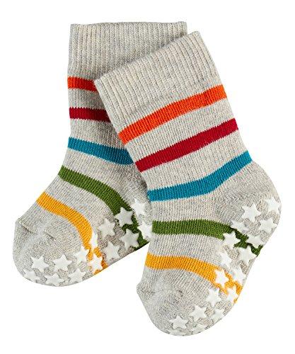 FALKE Unisex Baby Socken Multi Stripes Catspads, Mehrfarbig (Graphite 3823), 74