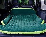 CZ Suv Cama de Coche Universal en la Cama Fuera de Los Vehículos de Carretera por Ventilado Flocado Colchón Inflable Cama de Choque de Coche,Verde