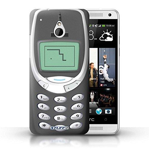 Kobalt® Imprimé Etui / Coque pour HTC One/1 Mini / Nokia 8210 jaune conception / Série Portables rétro Nokia 3310 gris