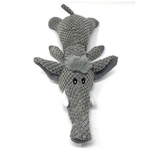 Petpany Hund Toys|Spielzeug mit einem molaren Seil kauen|Kleine und mittlere Hund Haustiere|Welpe interaktives Spiel|Haustier Hund Backenzähne (Elefant, Gray)