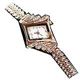 mignolo ➤ ✎ ✎ ✎ semplice e generoso bracciale moda donna orologio al quarzo a rombi strass analogico in lega da polso Gift–bianco, colore: Gold, cod. 124112-little finger
