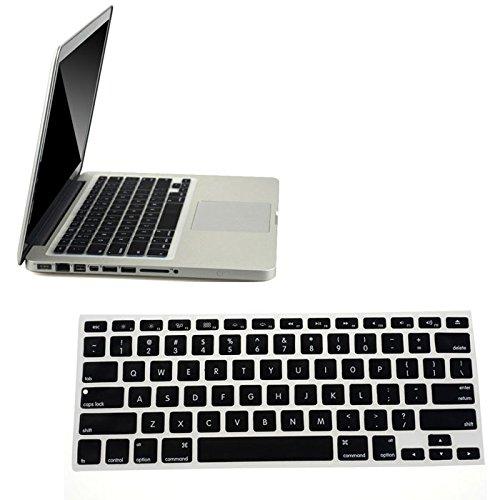 Silikon Tastatur Haut für Apple MacBook Pro Air Mac Retina 13,3, Schwarz