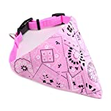 SurePromise One Stop Solution for Sourcing Rosa Hunde Halstuch Hundehalsband mit Tuch Bandana Pinscher Chihuahua Größe L