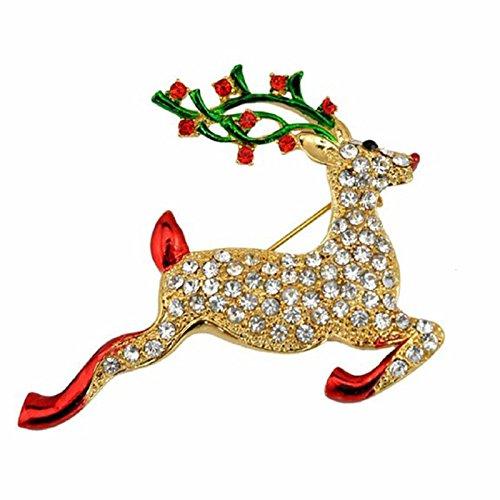 Timagebreze Broche de Navidad Broche de Ciervo