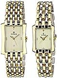 Titan Bandhan Analog Gold Dial Couple Watch, 19272927BM02