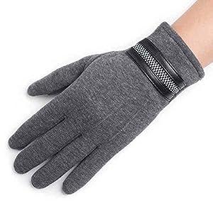 Unbekannt XIAOYAN Handschuhe Herrenhandschuhe Reiten Herbst Winter warme volle Finger Touch Screen Baumwolle Handschuhe Bequem