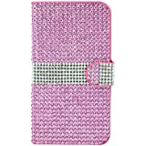 MM iPhone 6 Full Bling Wallet Case with 3 Credit Card Slots - Pink