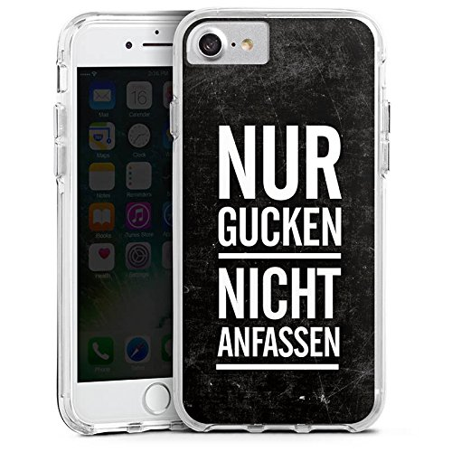 Apple iPhone 7 Plus Bumper Hülle Bumper Case Glitzer Hülle Sprüche Phrases Sayings Bumper Case transparent