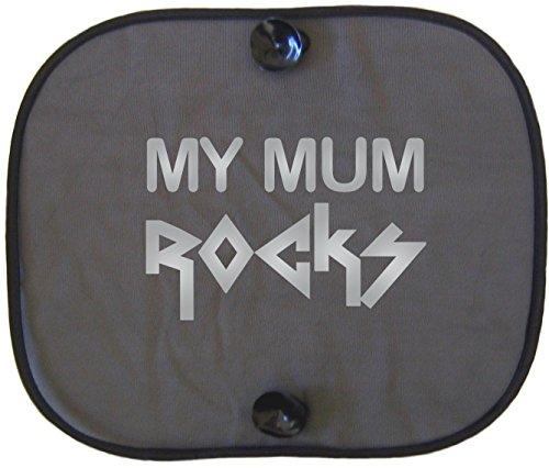 MY MUM ROCKS SILVER Auto Sonnenschutz per bambini