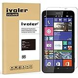 Nokia Lumia 1320 Protector de Pantalla, iVoler® Protector de Pantalla de Vidrio Templado Cristal Protector para Nokia Lumia 1320 -Dureza de Grado 9H, Espesor 0,20 mm, 2.5D Round Edge-[Ultra-trasparente] [Anti-golpe] [Ajuste Perfecto] [No hay Burbujas]- Garantía Incondicional de 18 Meses
