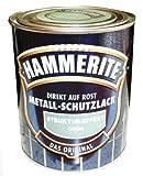 Hammerite Metall-Schutzlack, 750 ml, Struktur-Effekt Grün Glänzend, Rostschutz und Lackierung in einem