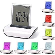 funwill Kid reloj 7cambio de color LED reloj Digital LCD Termómetro Calendario Reloj despertador alarma/Lazy Snooze Reloj despertador regalo para niños regalo de Navidad