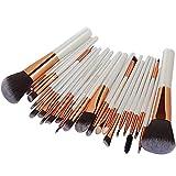 Keepwin 22 Pcs Maquillage Pinceaux Ensemble Complet Poudre Fondation Fard À Paupières Eyeliner Lèvres Brosse Cosmétique (B)