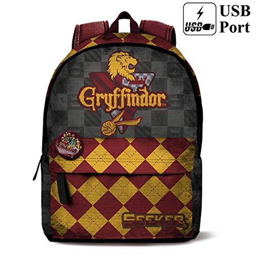 HARRY POTTER HOGWARTS - Zaino scuola e free time Griffyndor - Griffondoro Hogwarts 42 cm