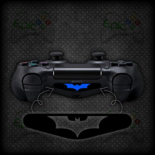 2x Playstation 4 PS4 Controller Light Bar Batman Vinyl Decal Sticker