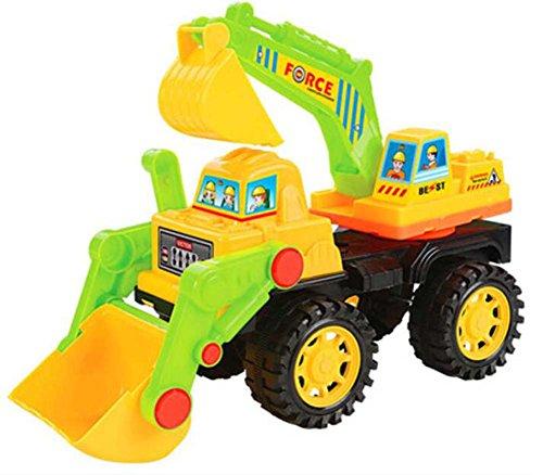 Gabelstapler Bulldozer Spielzeug Schiebetechnik Fahrzeuge Modell-Gelb Grün