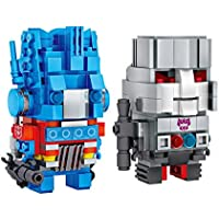 LOZ Brickheadz Transformers Optimus Prime and Megatron Juego de Nanobloques de Construcción de Diamante Para Niños y Rompecabezas 3D para Adultos con Caja Opcional con Divertido Juego Educativo iBlock Para Niños.