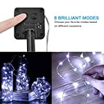 [2 Pack] BOLWEO Solar Powered String Lights,Solar Fairy Lights,16.4Ft 50LEDS,Waterproof Wire Lighting for Indoor Outdoor Christmas Tree Halloween Home Garden Decoration(Cool White) 10